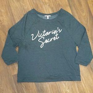 Victoria's Secret sequin gray crewneck sweatshirt